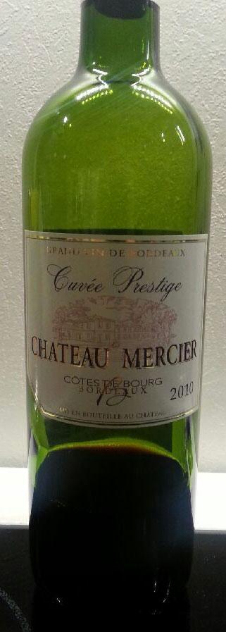 Chateau Mercier Cuvée Prestige ( Côtes de Bourg ) 2010