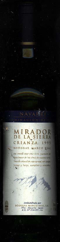 El Mirador de la Sierra Crianza ( Bodegas Marco Real ) 1995