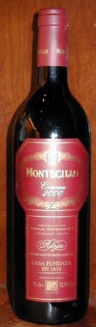 Montecillo Crianza ( Osborne Wines ) 2000