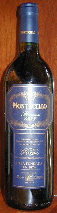 Montecillo Reserva ( Osborne Wines ) 1998