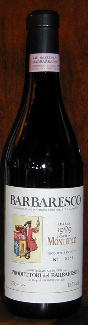 Barbaresco Riserva Montefico ( Produttori del Barbaresco ) 1999