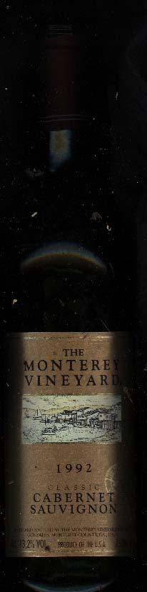 Cabernet Sauvignon ( Monterey Vineyard ) 1992