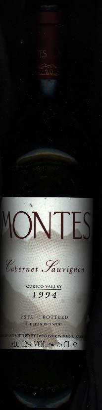 Cabernet Sauvignon ( Montes Alpha ) 1994