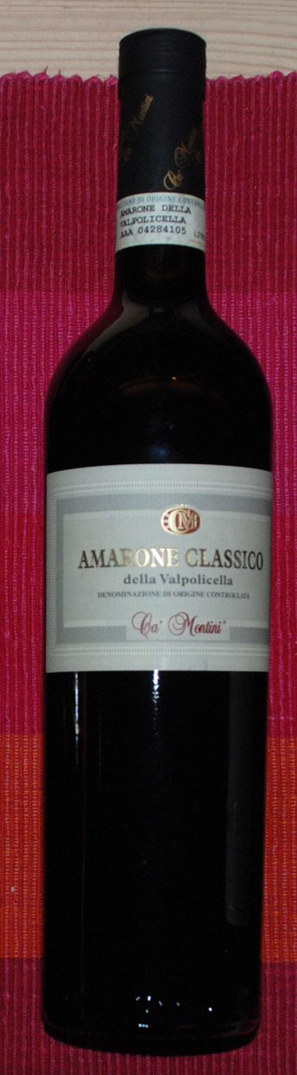 Amarone della Valpolicella Classico ( Ca` Montini ) 2005