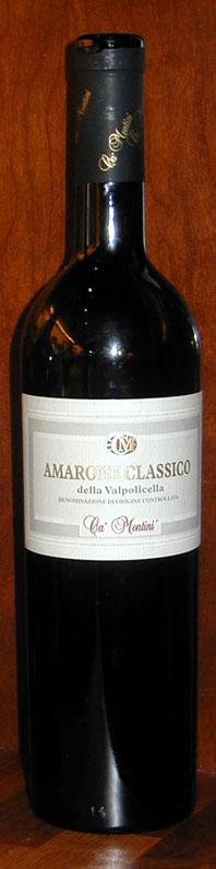 Amarone della Valpolicella Classico ( Ca` Montini ) 2001