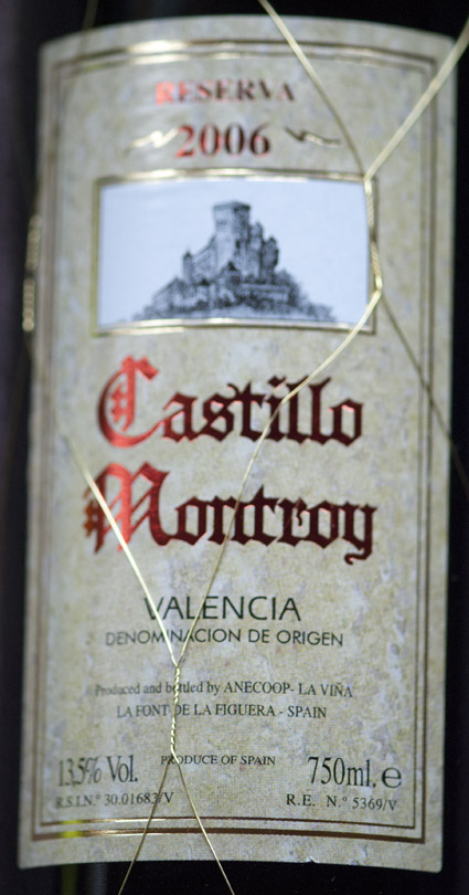 Castillo Montroy Reserva ( BCLV de F ) 2009