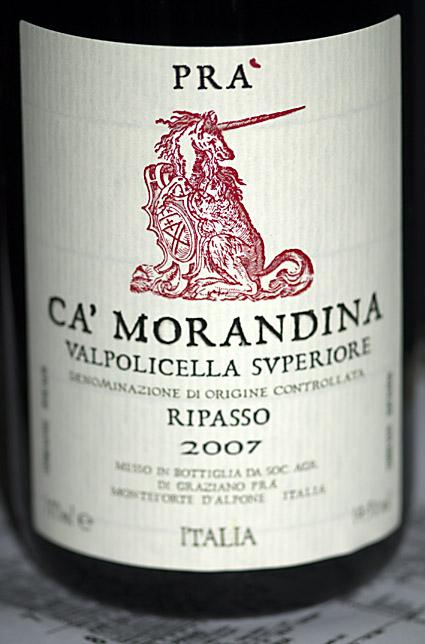 Valpolicella Superiore Ripasso Ca` Morandina ( Agricola di Graciano Prá ) 2007