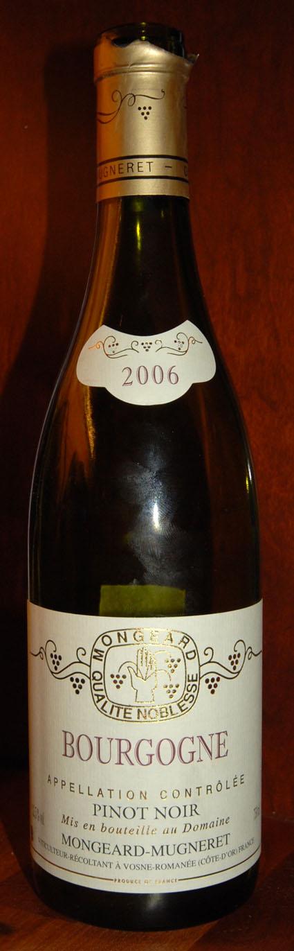 Pinot Noir ( Domaine Mongeard-Mugneret ) 2006