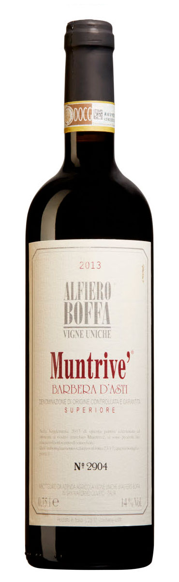 Barbera d`asti Vigna Muntrivé ( Alfiero Boffa ) 2015