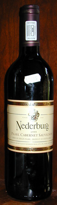 Cabernet Sauvignon ( Nederburg ) 1999