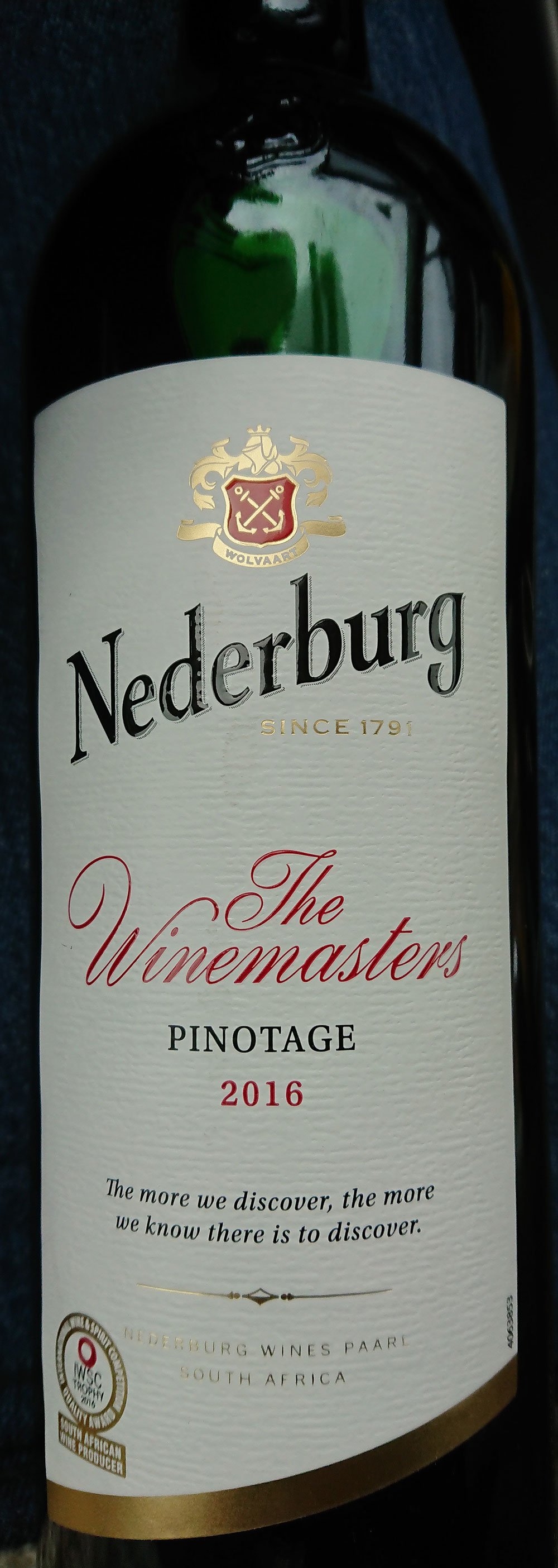 The Winemasters Pinotage ( Nederburg ) 2016