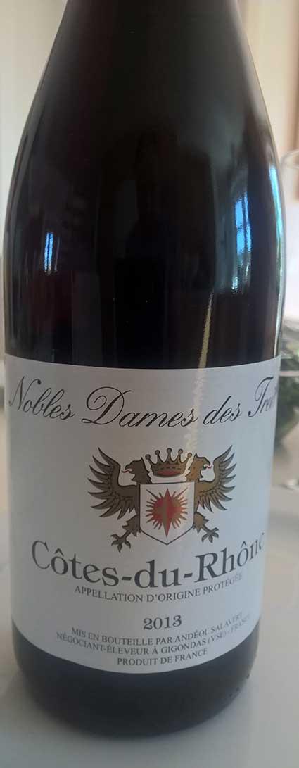 Nobles Dames Des Treilles Côtes du Rhône  ( Andéol Salavert ) 2013