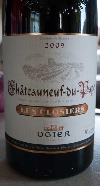Châteauneuf-du-Pape Les Closiers ( Ogier ) 2010