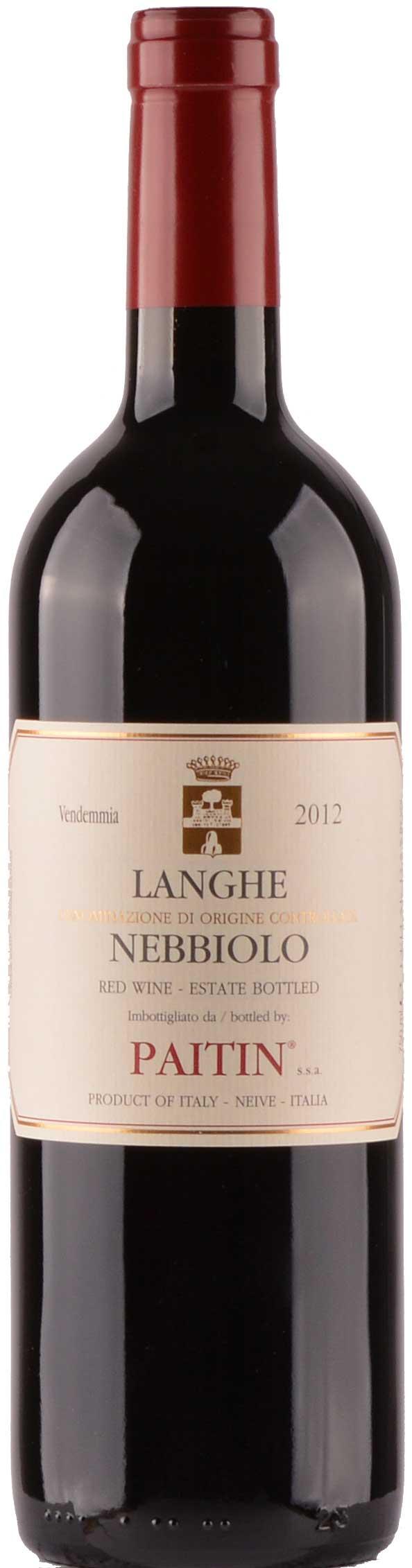 Langhe Nebbiolo ( Paitin ) 2012