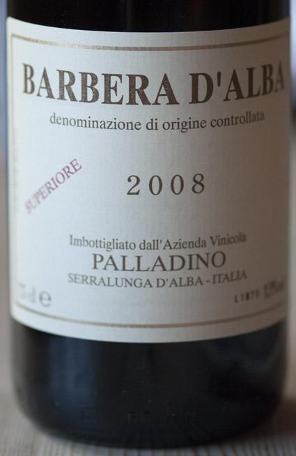 Barbera d`Alba Superiore ( Palladino ) 2010