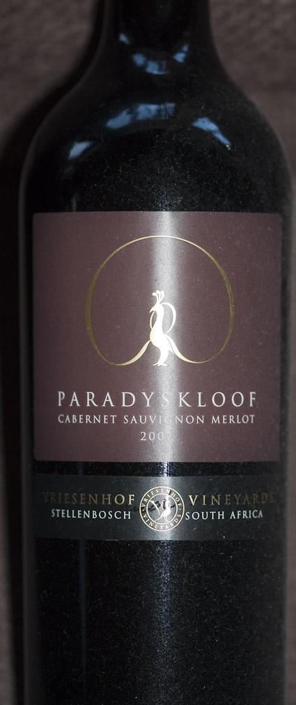 Cabernet Sauvignon Merlot ( Paradyskloof ) 2009