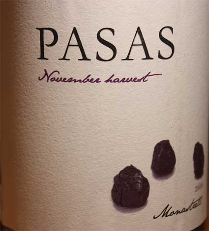 Pasas November Harvest Monastrell ( Hammeken Cellars ) 2008