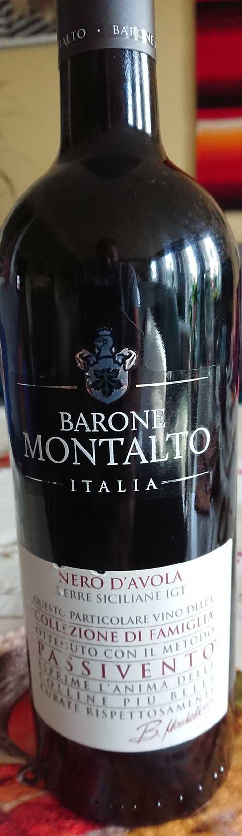 Collectione di Famiglia Nero d`Avola Passivento ( Barone Montalto ) 2016