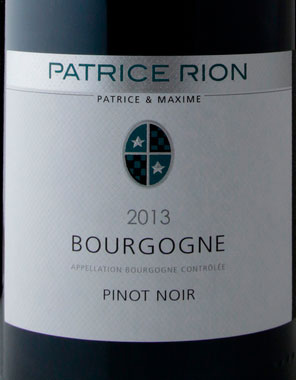 Bourgogne Rouge ( Patrice Rion ) 2013