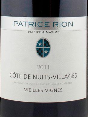 Côte de Nuits Villages ( Patrice Rion ) 2012