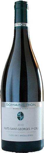 Nuits Saint Georges 1er Cru Clos des Argillières ( Patrice Rion ) 2005