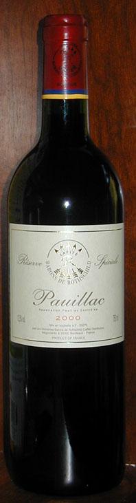 Pauillac ( Domaines Barons de Rothschild ) 2000