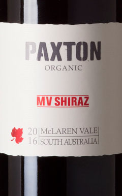 MV Shiraz ( Paxton Wines ) 2016