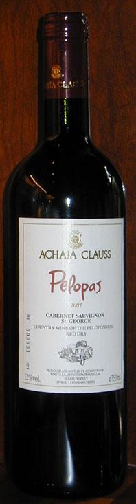 Pelopas Cabernet Sauvignon St. George ( Achaia-Clauss ) 2001