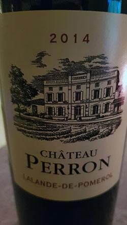 Château Perron - Lalande de Pomerol ( Château Perron ) 2014
