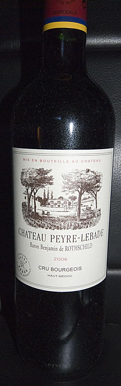 Château Peyre-Lebade ( Domaines Barons de Rothschild ) 2003