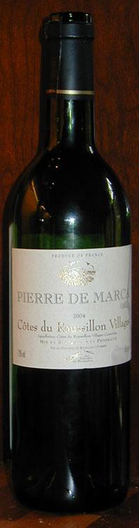 Pierre de Marca ( les Vign. du Rivesaltais ) 2004