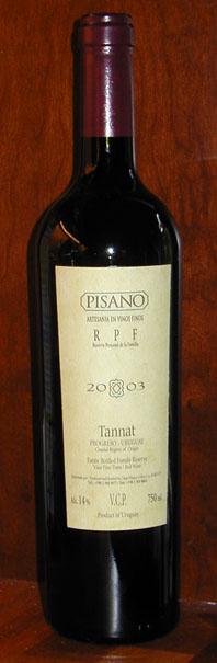 Rpf Tannat ( Bodegas Pisano ) 2003