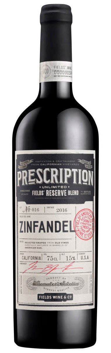 Prescription Reserve Zinfandel Petit Sirah Merlot ( Fields Wine Co ) 2016