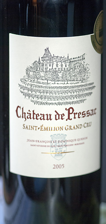 Château de Pressac Saint-Émilion Grand Cru ( Jean-Francois and D.Quenin ) 2005