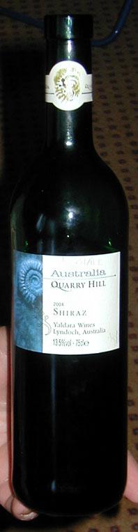 Quarry Hill Shiraz ( Yaldara Wines ) 2004