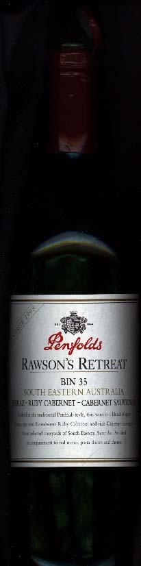 Rawson`s Retreat bin 35 ( Penfolds Wines ) 1998