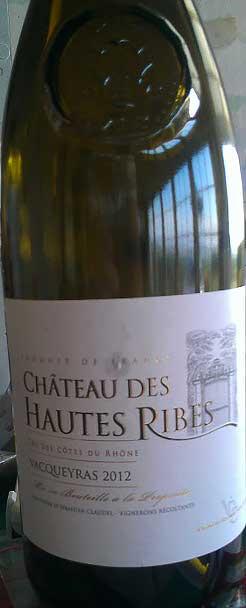 Vacqueyras ( Château des Hautes Ribes ) 2014
