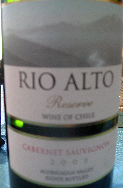 Rio Alto Cabernet Sauvignon Reserva ( San Esteban ) 2008