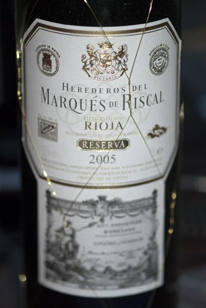 Reserva ( Marqués de Riscal ) 2006