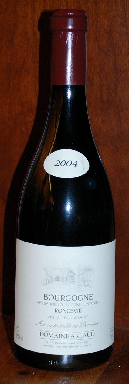 Bourgogne Rouge Roncevie ( Domaine Arlaud Père et Fils ) 2004