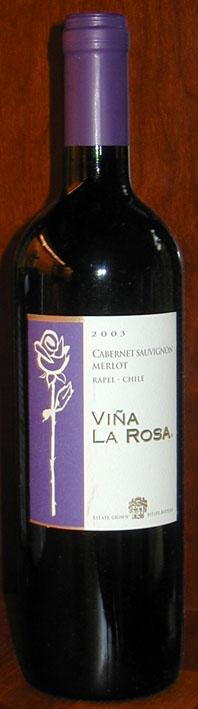 Cabernet Sauvignon-merlot ( Vina la Rosa ) 2003