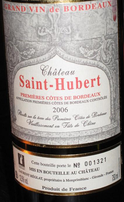 Château Saint Hubert ( Château Saint Hubert ) 2006