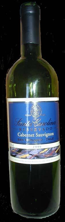 Cabernet Sauvignon Reservado ( Santa Carolina ) 1999