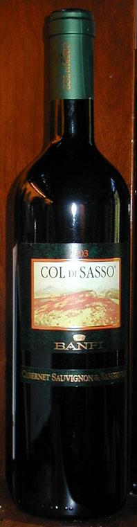 Col-Di-Sasso Sangiovese and Cabernet Sauvignon ( Banfi ) 2003