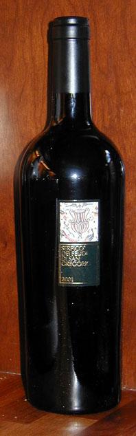 Serpico Irpinia Aglianico IGT ( Feudi di San Gregorio ) 2001