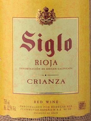 Siglo Saco Crianza ( Bodegas AGE ) 2013