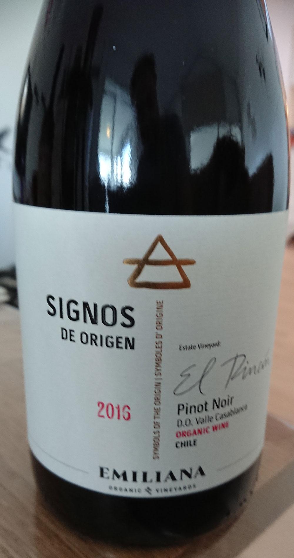 Signos de Origen ( Vinedos Organicos Emiliana ) 2013