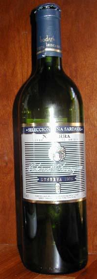 Seleccion Vina Sardasol Cabernet Sauvignon Reserva ( Virgen Blanca ) 1998