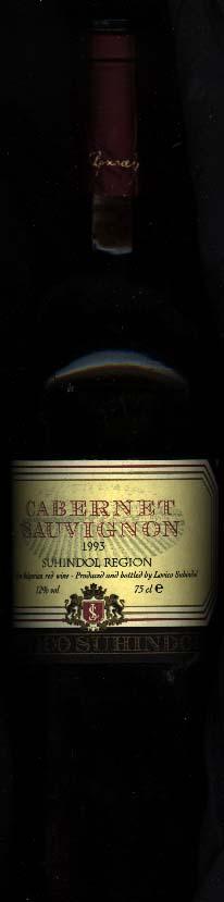 Suhindol Cabernet Sauvignon ( Lovico Winery ) 1993