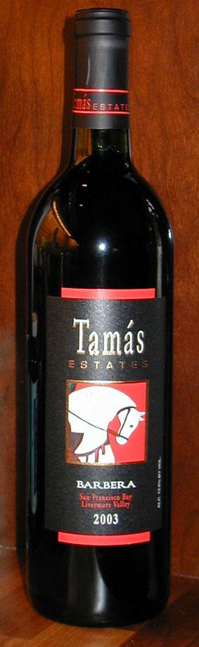 Barbera ( Tamás Estates ) 2003